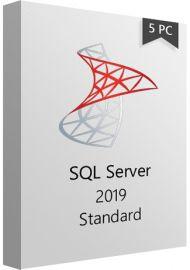 SQL Server 2019 Standard - 5PCs